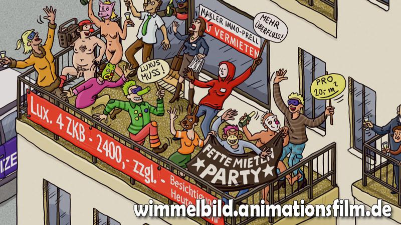 fettemietenparty-wimmelbild-animationsfilm-de